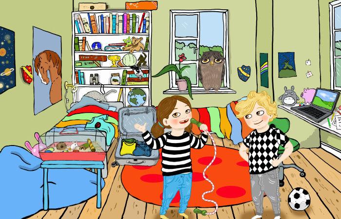 Nytt och smart appspel med resetema för barn 6-9 år.