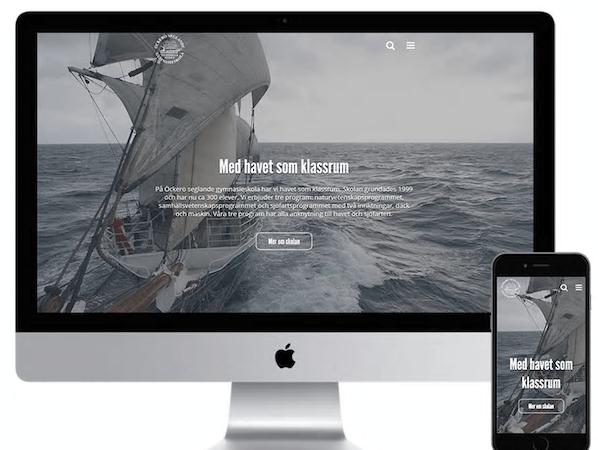 Sitevision-partner utvecklar ny webbplats åt Öckerö Seglande Gymnasieskola