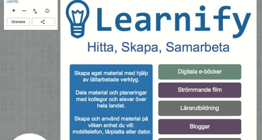 Skolon och lärresurstjänsten Learnify i samarbete