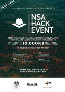 Högskolan i Skövde arrangerar NSA Hack Event 1