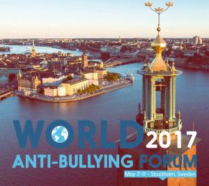 Världskonferens mot mobbning hålls i Stockholm 7-9 maj 2