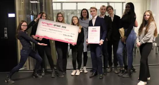 Skolklass i Huddinge vinner Surfa Lugnt-priset 2018