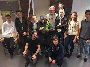 Elever på Realgymnasiet i Norrköping skapar miljöer i Virtual Reality 3
