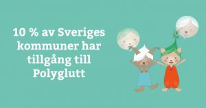 10 % av Sveriges kommuner har tillgång till Polyglutt 1