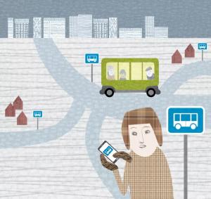 Rullande busskurer i Skellefteå ger ökad trygghet. 2