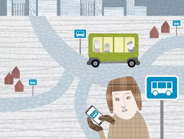 Rullande busskurer i Skellefteå ger ökad trygghet.