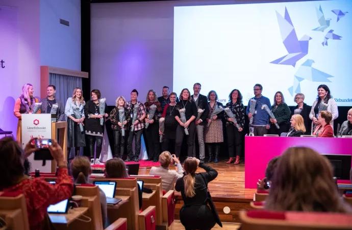 Johanna Jaara Åstrand enhälligt omvald till förbundsordförande vid Lärarförbundets kongress