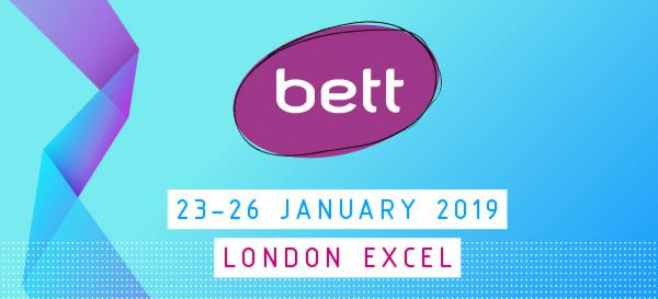 Två aktörer i London i samband med BETT 2019