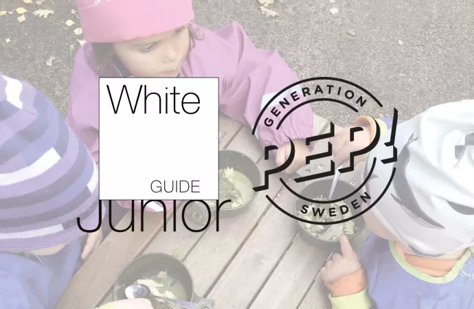 Generation Pep och White Guide Junior inleder samarbete kring hälsosam mat och fysisk aktivitet för skolbarn