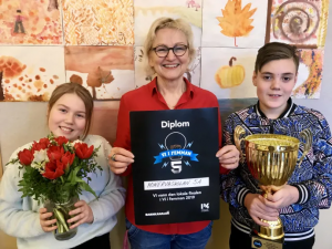 Minervaskolan från Umeå blev länsmästare i Vi i femman 1