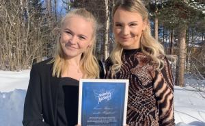 Hanna och Amalia från Lycksele är Månadens Nätänglar februari 2019 1