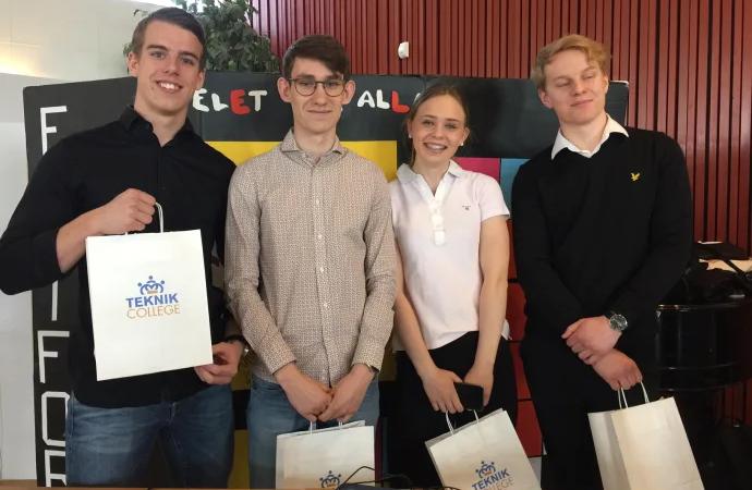 Hög teknisk höjd, engagemang och god research bland deltagarna på årets Teknikvetenskapstävling