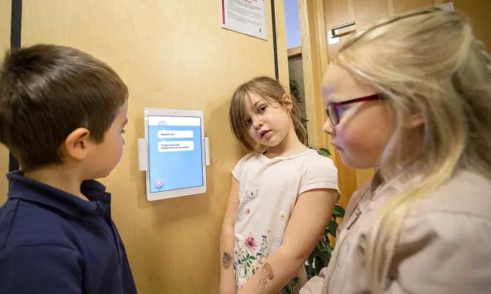 Roboten vet vad det blir till lunch på förskolan