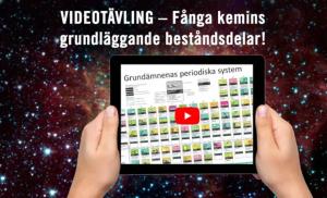Final i videotävlingen om periodiska systemet – rösta på din favoritfilm under ForskarFredag 1