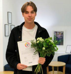 Årets Vikarie 2019 är Erik Börjesson, 19 år, från Enskede i Stockholm 1