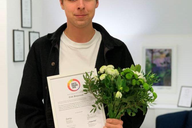 Årets Vikarie 2019 är Erik Börjesson, 19 år, från Enskede i Stockholm