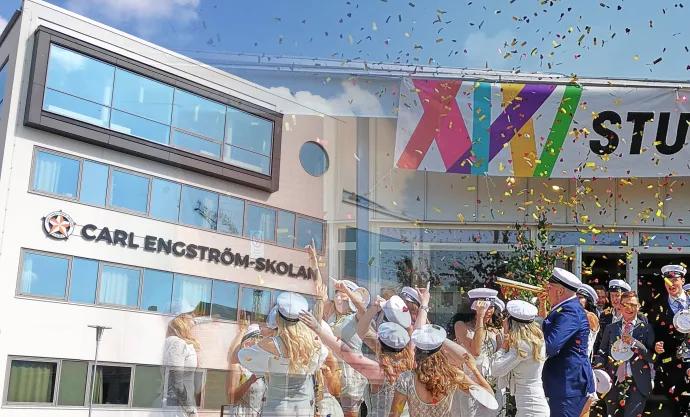 Unikt studentfirande på Carl Engströmgymnasiet med digitaliseringens möjligheter