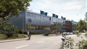 Fastighets AB Stenvalvet (publ) tar första spadtaget för Jensen grundskola i Sickla i Nacka 1