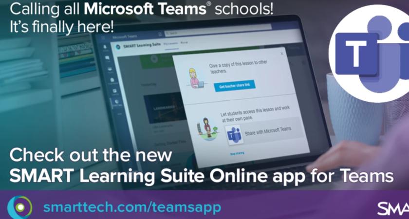 Ny integration mellan Microsoft Teams™ och SMART Learning Suite