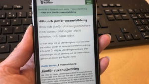 Växjö kommun lanserar digital jämförelsetjänst för vuxenutbildningar 1