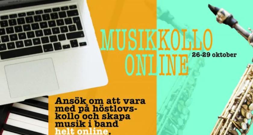 Inbjudan till Örebro läns första musikkollo helt online