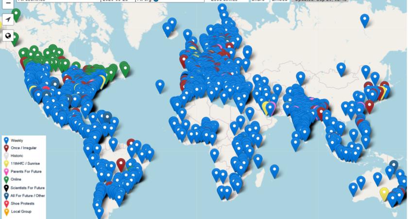 Fridays For Future: Klimataktioner på minst 89 platser i Sverige den 25 september