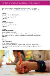 Mycket kultur på årets höstlov i Lindesberg 3