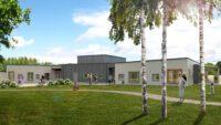 Finja Prefabs klimatpositiva betongstomme till förskola i Skummeslövsstrand