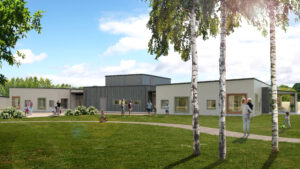 Finja Prefabs klimatpositiva betongstomme till förskola i Skummeslövsstrand 1