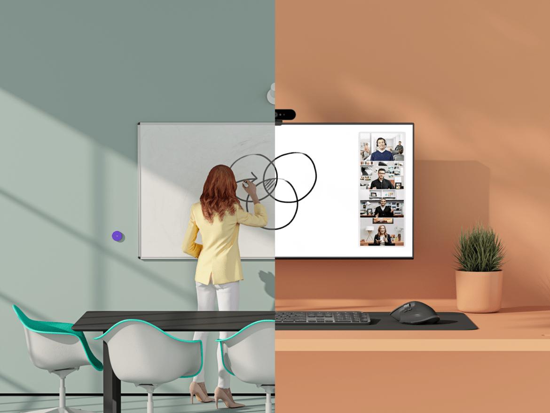 Logitech introducerar whiteboardlösning för samarbete på hybridkontor och i klassrum