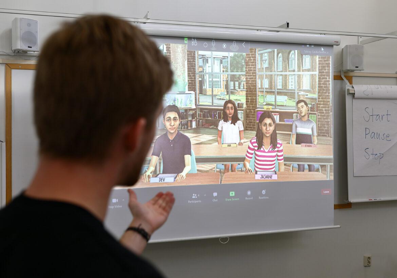 Virtuella elever ger tryggare lärare