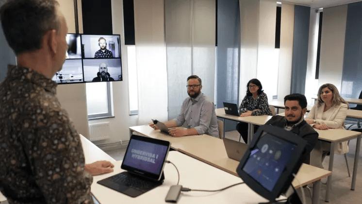 Högskolans nya hybridsalar öppnar för mer flexibel undervisning